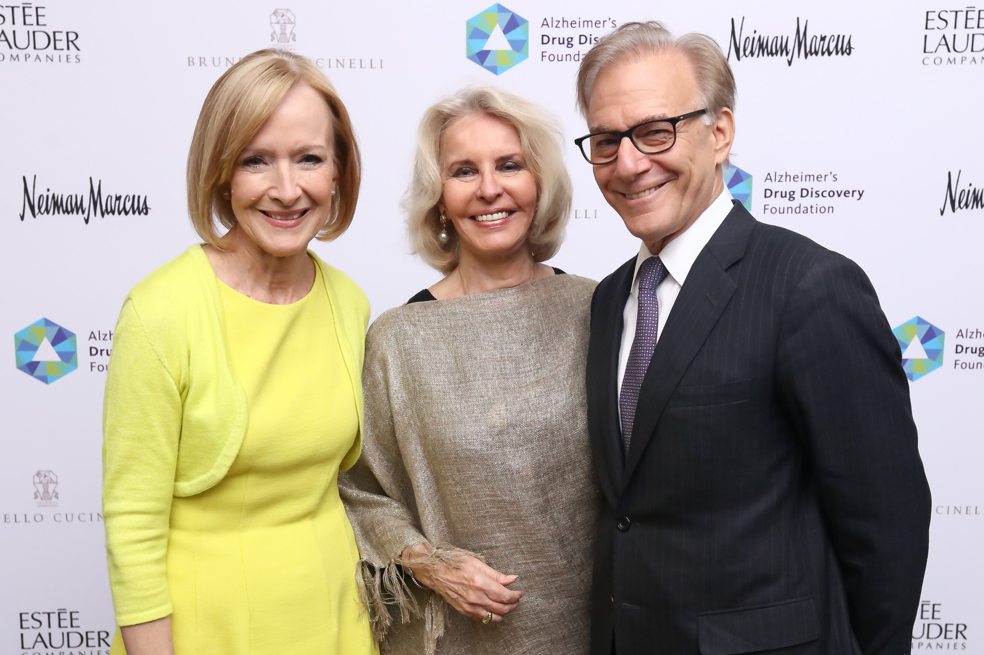 Judy Woodruff, Sally Quinn, and David Ignatius at the Seventh Annual Great Ladies Luncheon and Fashion Show